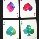 54 pieces Diamond Playing Cards Collection Black Core Poker Creative Gift Magic
