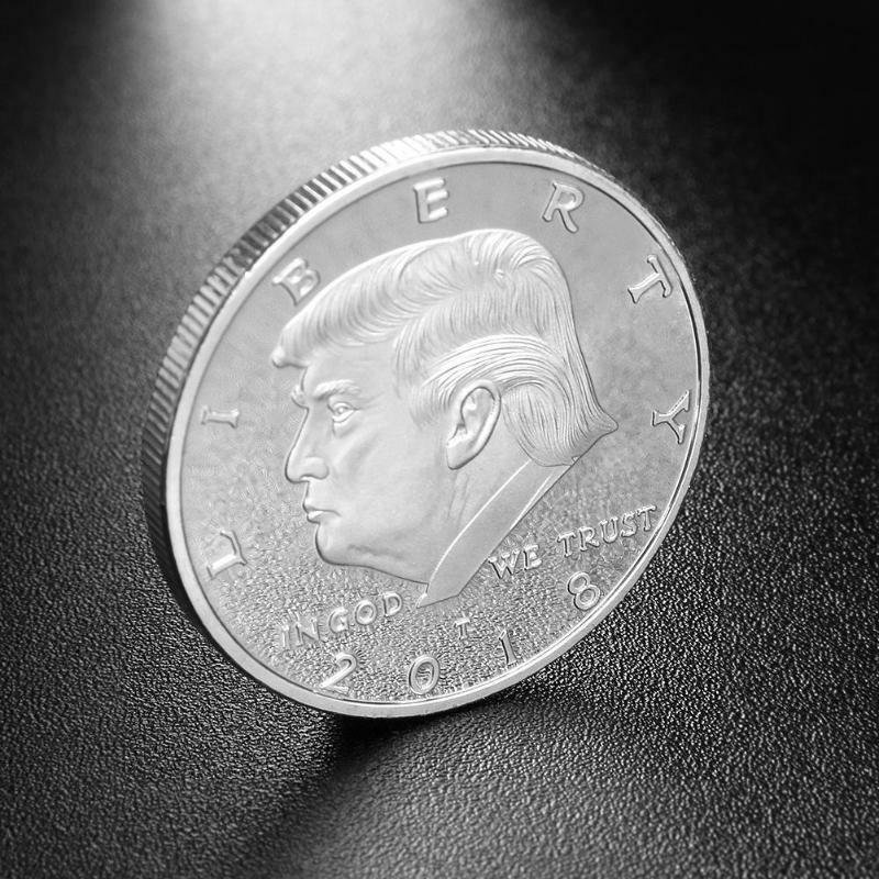 Donald Trump Challenge Coin 18 Silver Plated Collectors Edition Series President