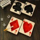 Ceramic Ashtray Suits of Playing Card Style for Poker Room Casino Hotel Cafes