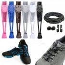 Elastic No-Tie Shoelaces Black, Running Sport Triathlon Shoelace Shoe