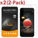 2-Pack Tempered Glass Screen Protector For LG Aristo 2/K8 2018/Tribute Dynasty