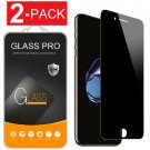 2X Protector de pantalla de vidrio templado privacidad para iPhone 8/7/6Plus X