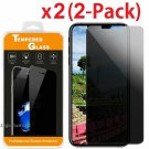2X HD Privacy Anti-Spy Tempered Glass Screen Protector for iPhone X /  XS