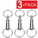 3-Pack Detachable Pull Apart Quick Release Keychain Key Rings/ US Free Shipping