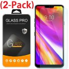 2-Pack Premium Tempered Glass Screen Protector Saver for LG G7 ThinQ