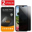 2X Protector de pantalla de vidrio templado privacidad para iPhone XS Max/XR/XS