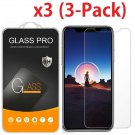 3X Crystal Clear Tempered Glass Screen Protector for iPhone Xs / Xs Max / XR / X