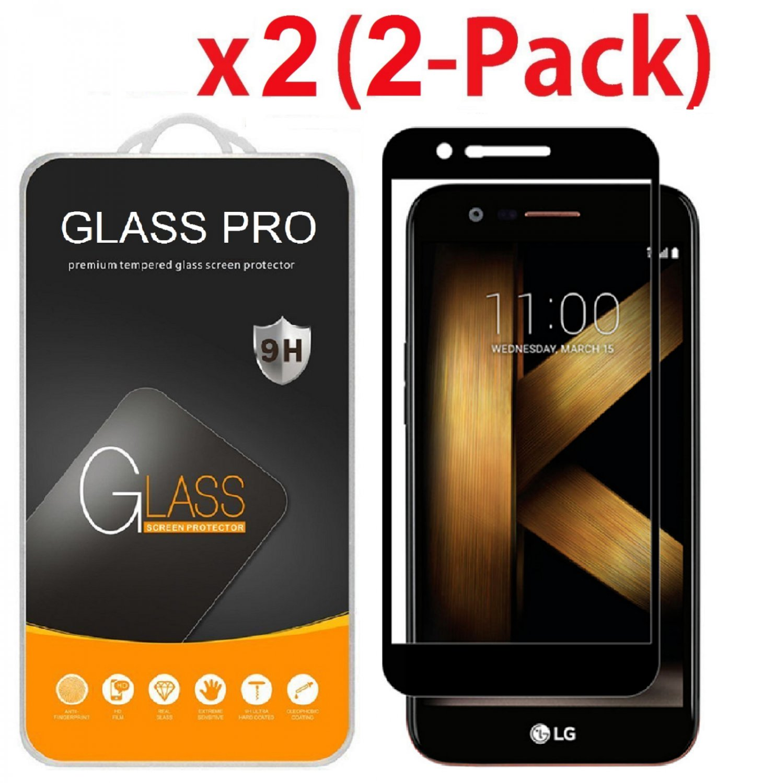 2x Full Coverage Tempered Glass Screen Protector For LG K20 Plus/K20 V/Harmony