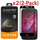 2X Full Cover Tempered Glass Screen Protector for Motorola Moto Z2 Force/Z2 Play