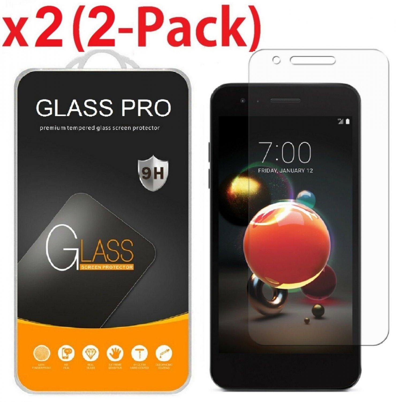 2-Pack Premium Tempered Glass Screen Protector For LG REBEL 4