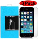 3-Pack Premium Real Tempered Glass Screen Protector for Apple iPhone 5 5S 5C