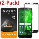 [2-PACK] FULL COVER Screen Protector Tempered Glass For Motorola Moto G6