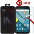 2-Pack Premium Tempered Glass Screen Protector for Motorola Google Nexus 6