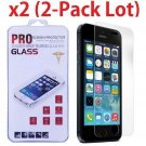 2x High Quality Premium Real Tempered Glass Screen Protector for iPhone 5 5S 5C