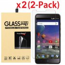 2-Pack Premium Tempered Glass Screen Protector for ZTE ZMax Pro MetroPCS