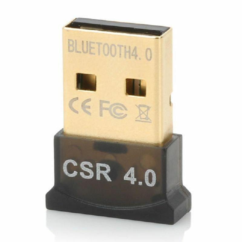 Mini Bluetooth 4.0 USB 2.0 CSR4.0 Dongle Adapter For Win 8 7 XP Laptop PC