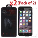 2-Pack Premium Tempered Glass Screen Protector for Apple iPhone 6S / 6S Plus