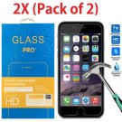 2-Pack Premium Real Tempered Glass Screen Protector for Apple iPhone 6 / 6 Plus