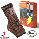 Ankle Compression Sleeves, Orange X-Large