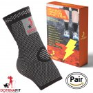 Ankle Compression Sleeves, Grey Large