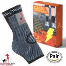 Ankle Compression Sleeves, Blue Large