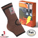 Ankle Compression Sleeves, Orange Medium