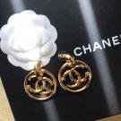 Chanel CC Logo Earrings