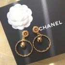 Chanel CC Logo Clip on Earrings