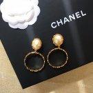Chanel Pearl CC Logo Clip on Earrings