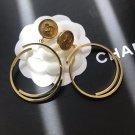 Chanel CC Logo Hoop Earrings
