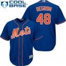 Men's New York Mets #48 Jacob deGrom Blue Alternate Cool Base Jersey
