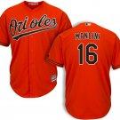 Men's Baltimore Orioles #16 Trey Mancini Cool Base Orange Alternate Jersey