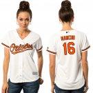 Women's Baltimore Orioles #16 Trey Mancini Cool Base White Home Jersey
