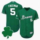 Men's Atlanta Braves 2018 Freddie Freeman St. Patrick's DayGreen Jersey