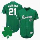 Men's Braves #13 Ronald Acuna Jr. Green St. Patricks Day Jersey