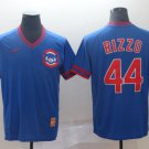 Youth  Chicago Cubs #44 Anthony Rizzo Blue Throwback Jersey