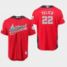 Men's National League 2018 All-Star Red #22 Brewers Christian Yelich Home Jersey