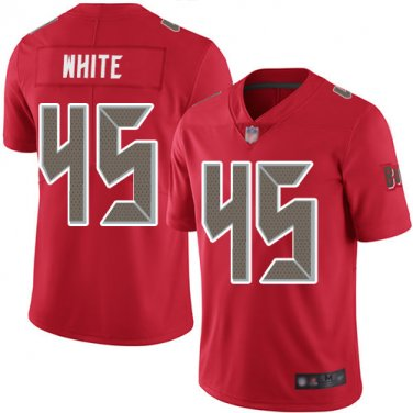 superior quality 13903 1bf9b Men's Tampa Bay Buccaneers #45 devin white color rush ...