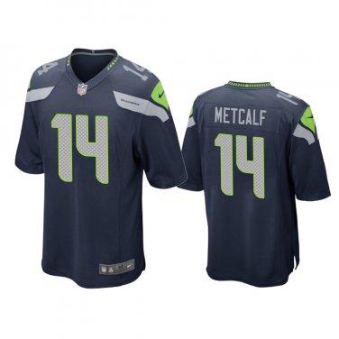 Men S D K Metcalf 14 Seattle Seahawks Navy Blue Game Jersey