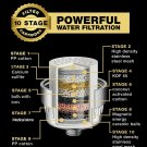 10 Stage Bathing Filter Water Filtration Cartridge Replacement Residual Chlorine