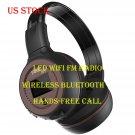 LED WiFi FM Radio Wireless Bluetooth headphone Stereo headset music tool