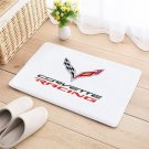Corvette Racing Mat Natural Cotton Floor Door Anti Slip Sports Car