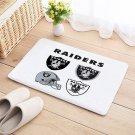 Oakland Raiders Door Mat Natural Cotton Floor Anti Slip NFL