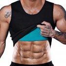 Men Gym Fitness Neoprene Vest Body Shaper Ultrathin SweatShirt Top Sports Slimming Waist Trainer XL