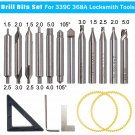 Drill Bits Set cutter For 368A Locksmith Tool Vertical Key Machine Spare Parts