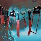Halloween Plastic Blood Knife Tools Sets