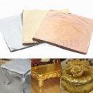 100Pcs Sheets Gold Silver Copper Leaf Foil Paper 14x14cm For Gilding Craft Decor
