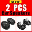 2X 1000W 6 x 9'' 3 Way Super Tone Car Door Coaxial Dash Audio Speakers Woofer