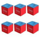 6Pcs/set Billiard Table Pool Snooker Cue Blue Tip Chalk Sports Accessory