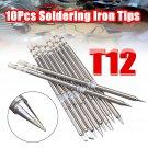 10Pcs T12 Handle Series T12-k BC2 BL Soldering Iron Tips For HAKKO FX951 FX952